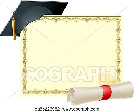 eps vector graduate certificate background stock clipart