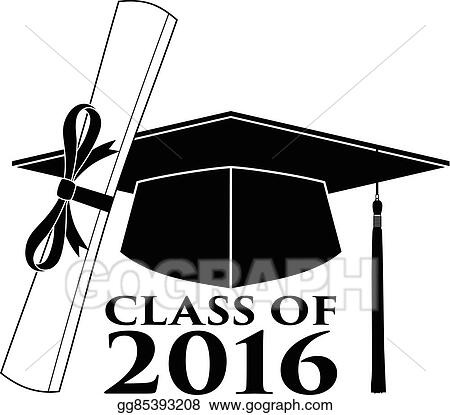 clip art vector graduate class of 2016 stock eps gg85393208 rh gograph com