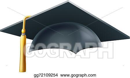 eps vector graduation mortar board hat or cap stock clipart rh gograph com mortar board clip art border mortar board image clipart