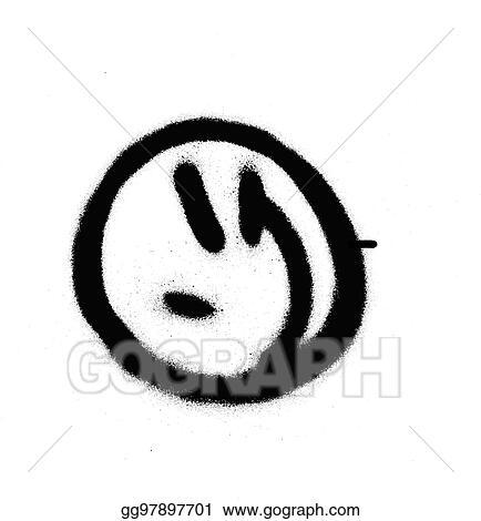 Smileys schwarz weiß zwinkern
