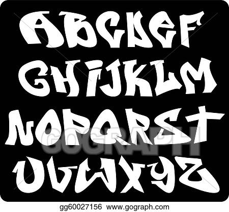 different types of letters vector graffiti font alphabet abc letters eps 2936