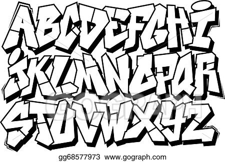 Eps illustration graffiti font alphabet vector clipart gg68577973 graffiti font alphabet thecheapjerseys Image collections