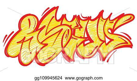 Eps Illustration Graffiti Lettering Alphabet Vector Clipart Gg109945624 Gograph