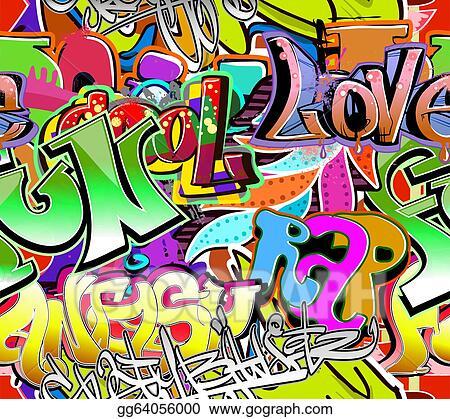 vector illustration graffiti wall urban art vector background