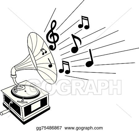 vector clipart gramophone vector illustration gg75486867 gograph https www gograph com clipart license summary gg75486867