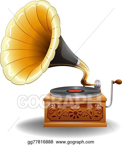 vector clipart gramophone vector illustration gg77816888 gograph vector clipart gramophone vector