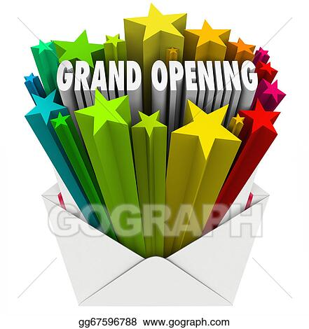 Drawings Grand Opening Announcement Letter Envelope Flyer Stock