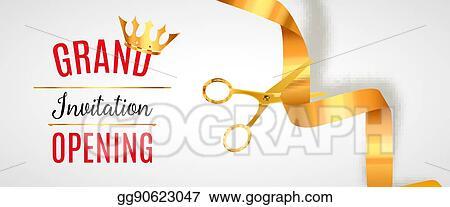 Vector Illustration Grand Opening Invitation Banner