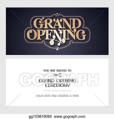Vector Illustration Grand Opening Vector Illustration Invitation