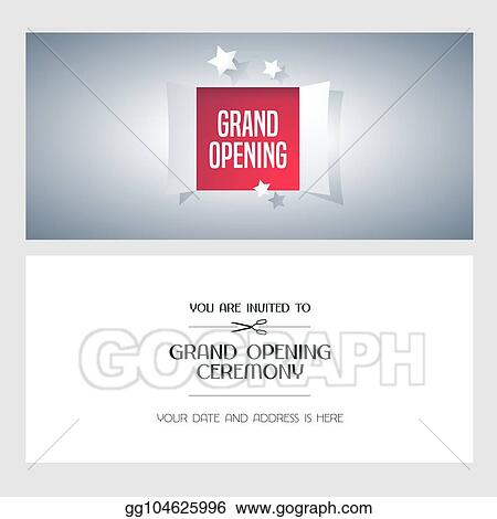 Eps Vector Grand Opening Vector Invitation Card Stock