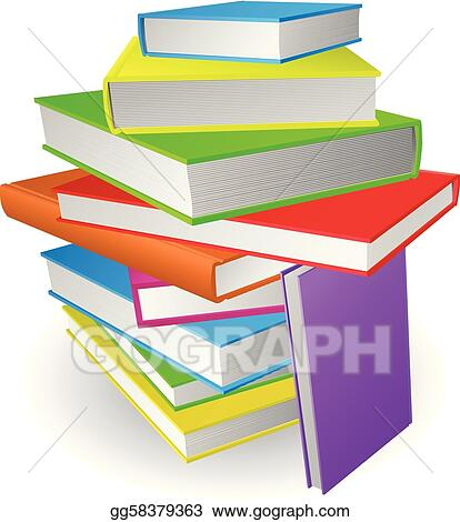 Vecteur Eps Grand Pile Livres Illustration Gg58379363
