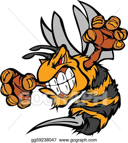 eps vector graphic vector image of a wasp or y stock clipart rh gograph com  hornet mascot clipart free