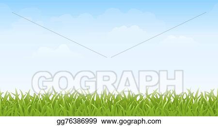 Vector Art Grass And Sky Seamless Clipart Drawing Gg76386999