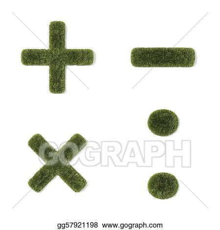 Stock Illustration Grass Font Mathematical Symbols Clipart