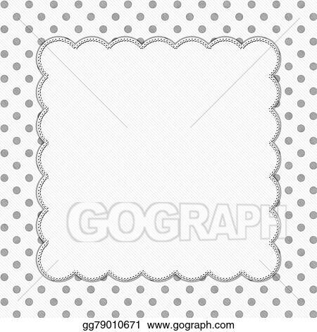 Stock Illustration - Gray and white polka dot frame background ...