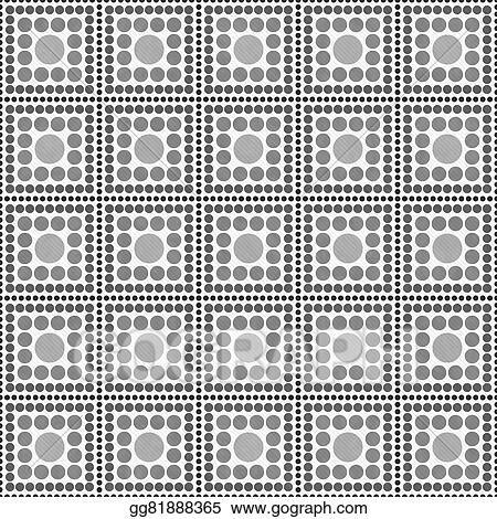 Stock Illustration Gray And White Polka Dot Square Abstract Design