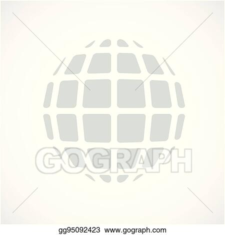 Vector Art - Gray dimensional vector low poly object