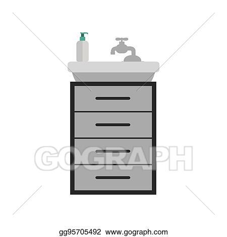 Pleasant Clip Art Vector Gray Scale Silhouette Washstand With Small Interior Design Ideas Helimdqseriescom