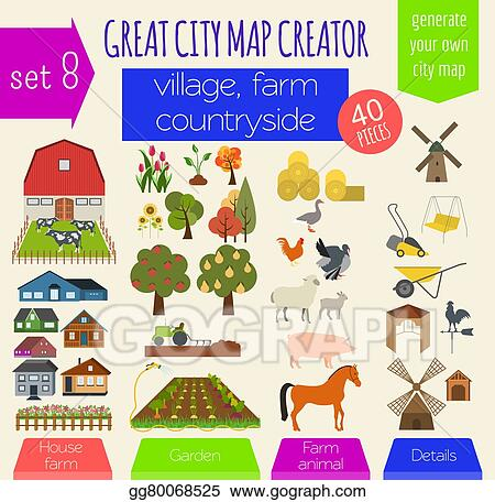 Vector art great city map creator house constructor for House map creator