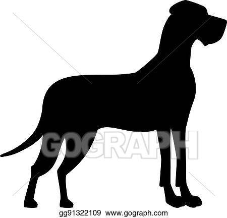 clip art vector great dane black silhouette stock eps gg91322109 rh gograph com great dane head clipart great dane clipart free