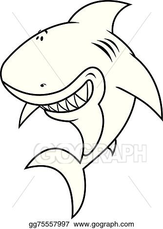 EPS Illustration - Great white shark coloring book. Vector Clipart ...