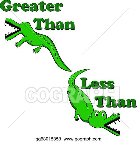 Drawing Greater Than Less Than Alligators Clipart Drawing
