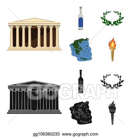 Clip Art - Greece, country, tradition, landmark. greece ...