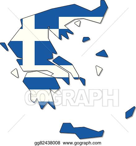 eps illustration greece map flag vector clipart gg82438008 gograph rh gograph com Ancient Greece Maps for Students Classical Greece Map