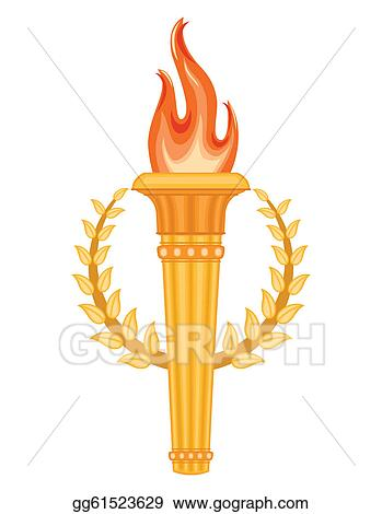 Eps Illustration Greek Olympic Torch Vector Clipart Gg61523629