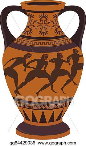 Vector Art Greek Vase Clipart Drawing Gg64429036 Gograph