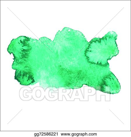 Vector Stock Green Blue Colorful Abstract Hand Draw