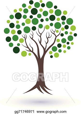 vector art green circles tree image concept of well being and rh gograph com tree of life clipart with roots tree of life clip art free