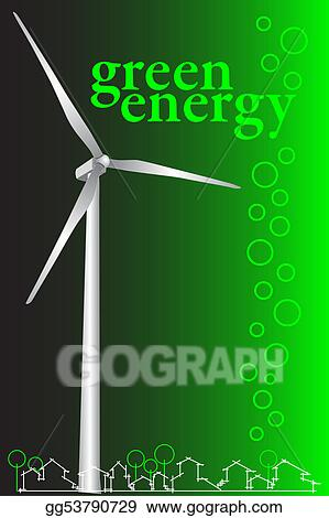 Stock illustration green energy brochure cover or business card green energy brochure cover or business card reheart