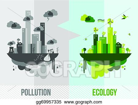 Vector Art Green Environment Concept Illustration Clipart Drawing