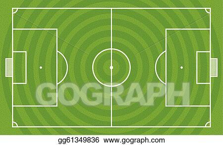 Football Field Template | Vector Illustration Green Football Field Vector Template Stock