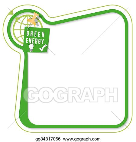 Vector Stock Green Frame For Your Text With The Tack Target And