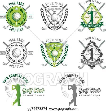 Clip Art Vector Green Golf Club Logo Designs Stock Eps Gg74473874 Gograph