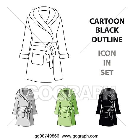 70a04d4255 Green lady s gown after bath. Home clothes for women. Woman clothes single  icon in cartoon style vector symbol stock illustration.