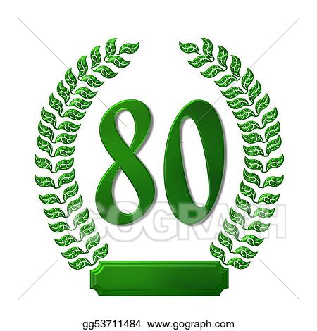 stock illustration green laurel wreath 80 clipart illustrations
