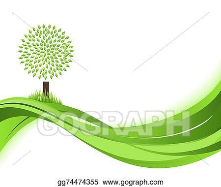 Ecoconcept stock illustration - green nature background. eco concept
