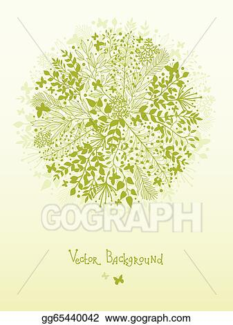 Vector Art - Green nature circle design element background
