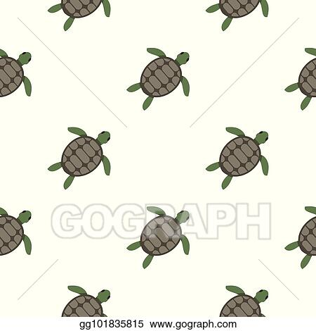 vector clipart green sea turtle pattern seamless vector