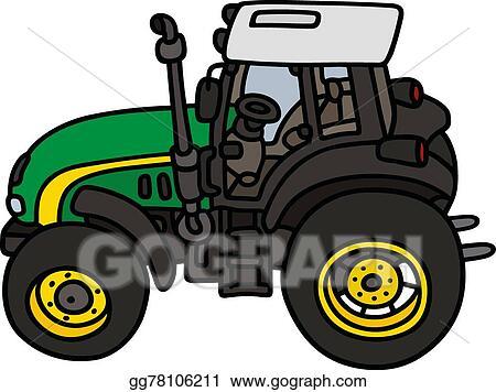 Eps Vector Green Tractor Stock Clipart Illustration Gg78106211