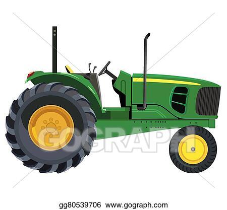 Eps Vector Green Tractor Stock Clipart Illustration Gg80539706