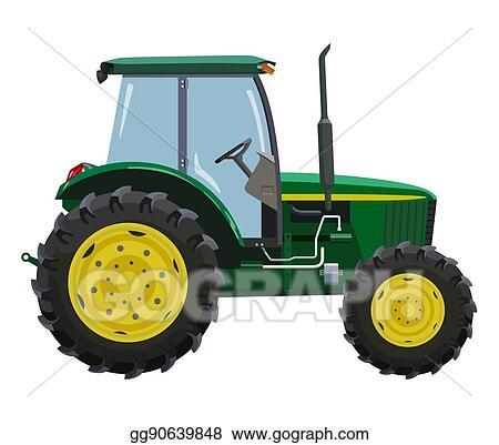 Eps Vector Green Tractor Stock Clipart Illustration Gg90639848