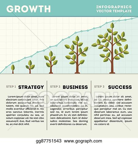 Clip art vector green tree and plant timeline diagram infographics green tree and plant timeline diagram infographics vector template business growth concept friedricerecipe Images