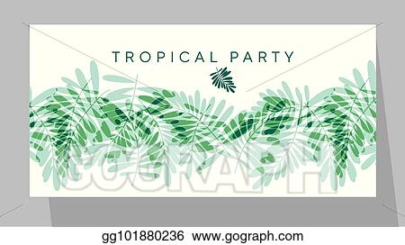 Eps vector green tropical pattern vector illustration for card green tropical pattern vector illustration for card invitation poster header exotic forest leaves motif for surface design stopboris Image collections