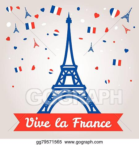 Vector illustration greeting card design for the bastille day 14 greeting card design for the bastille day 14 july or another french holiday m4hsunfo