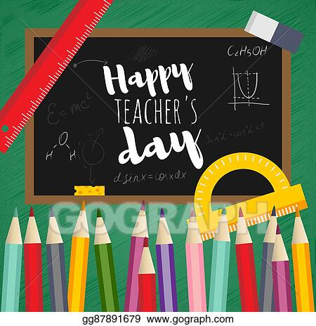 Vector clipart greeting card happy teachers day vector greeting card happy teachers day m4hsunfo
