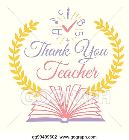 Vector art greeting thank you teacher clipart drawing gg99489602 greeting thank you teacher m4hsunfo
